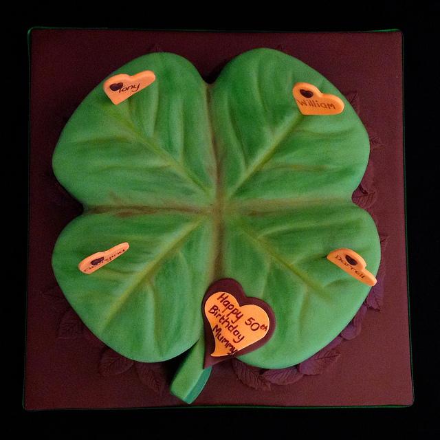 four leaf clover birthday cakes