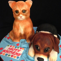 Kitten & Puppy Cake