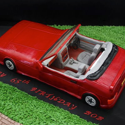 TVR convertible car cake