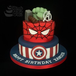 Super-Heroes-cake
